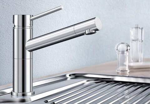Кухонный смеситель Blanco Alta Compact (хром)
