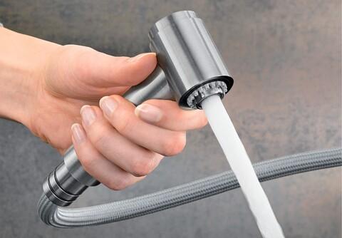Кухонный смеситель Blanco Ambis-S (нержавеющая сталь)