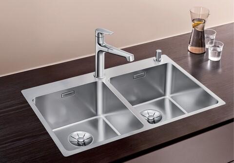 Кухонная мойка Blanco Andano 340/340-IF-A (зеркальная полировка, с клапаном-автоматом)