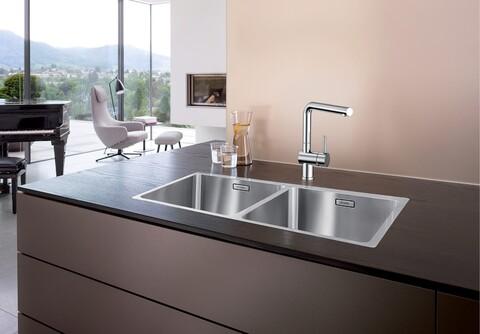 Кухонная мойка Blanco Andano 400/400-IF (зеркальная полировка, без клапана-автомата)