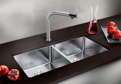 Кухонная мойка Blanco Andano 400/400-U (зеркальная полировка, без клапана-автомата)