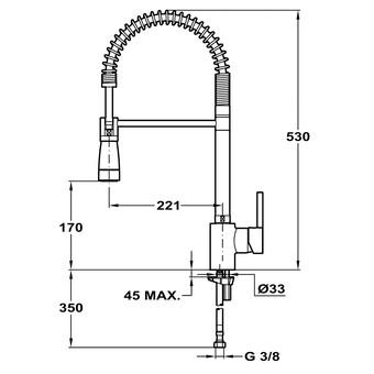 Кухонный смеситель Teka Ark 939 (хром, с пружиной) 239391210