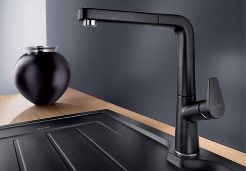 Кухонный смеситель Blanco Avona-S (антрацит)