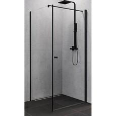 Душевой уголок (распашная дверь) квадратная New Trendy SUPERIA BLACK 90х90