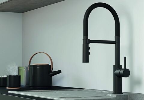 Кухонный смеситель Blanco Catris-S (матовый черный)