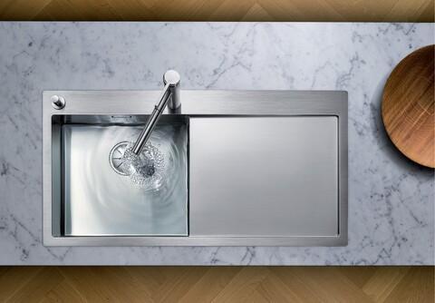 Кухонная мойка Blanco Claron 5 S-IF/А (левая, зеркальная полировка, с клапаном-автоматом)