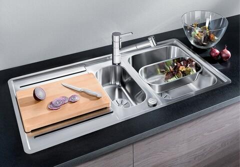 Кухонная мойка Blanco Classic Pro 6 S-IF (зеркальная полировка, с клапаном-автоматом InFino®)