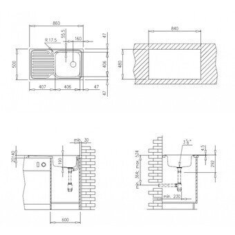 Кухонная мойка Teka Classico 1C 1E MTX