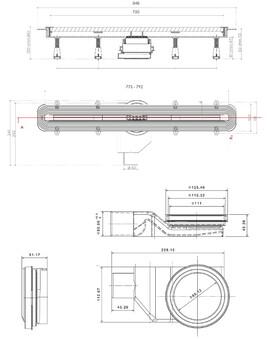 Душевой лоток Pestan Confluo Slim Line 850 (13100035)