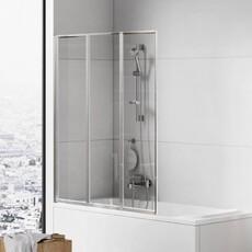 Шторка для ванны складная New Trendy TREX 120 хром (P-0154)