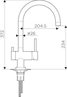 Кухонный смеситель Omoikiri Yamada-C 4994224 (хром)