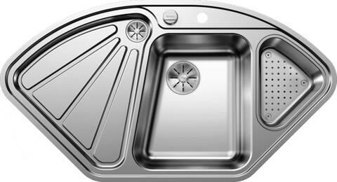 Кухонная мойка Blanco Delta-IF (зеркальная полировка, с клапаном-автоматом InFino®)