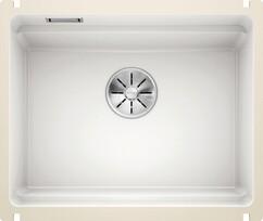 Кухонная мойка Blanco Etagon 500-U (глянцевый белый, с отводной арматурой InFino®)