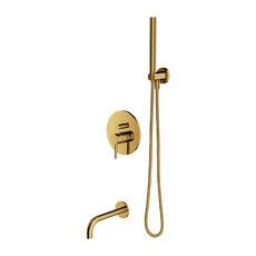 Душевая система для ванны скрытого монтажа Onmires с изливом (SYSYW01GL)