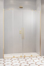 Дверь в нишу (раздвижные двери) Radaway Furo DWD Gold 200