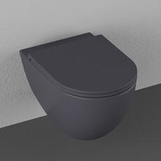 """Унитаз подвесной безободковый Isvea Infinity антрацит, сидение """"микролифт"""" (10NF02001A)"""