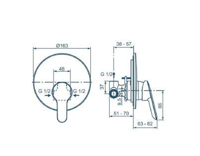 Гигиенический душ Ideal Standard BD125AA