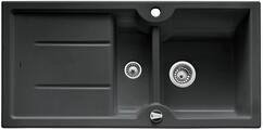 Кухонная мойка Blanco Idessa 6 S (черный, с клапаном-автоматом)