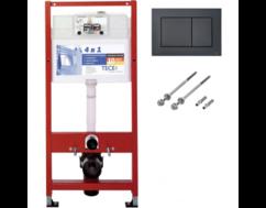 Инсталляция TECE base kit для установки подвесного унитаза 9.400.407 кнопка черная матовая