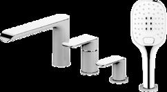 Смеситель для ванны на 4 отверстия БЕЛЫЙ/ХРОМ Omnires Sacramento BIA/CR SC2332 CRВ