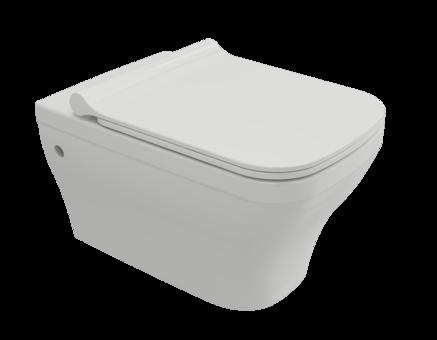 Унитаз подвесной Bocchi Firenze Rimless 53,5 с тонким сиденьем Soft Close (Белый)