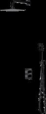 Душевая система скрытого монтажа (20*20 см, термосмеситель) Omnires Parma BLACK SYS PM11 BL