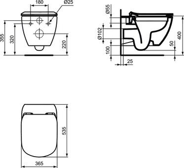 """Комплект Ideal Standard 3 в 1 инсталляция + унитаз + крышка """"микролифт"""" ( T386801)"""