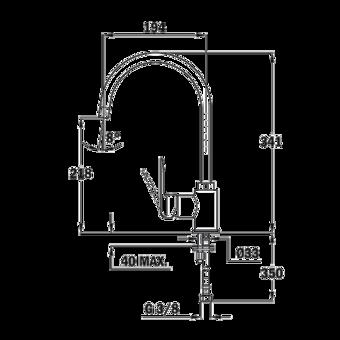 Кухонный смеситель Teka IN 915 CHROME 539156200