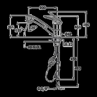 Кухонный смеситель Teka IN 978 CHROME 469781200 выдвижной излив