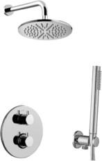 Система душевая с термостатом Paffoni KITLIQ018CR хром