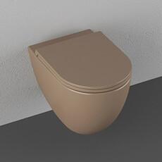 """Унитаз подвесной безободковый Isvea Infinity коричневый, сидение """"микролифт"""" (10NF02001T)"""