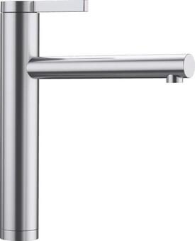 Кухонный смеситель Blanco Linee (сталь с зеркальной полировкой)