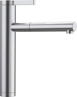 Кухонный смеситель Blanco Linee-S (сталь с зеркальной полировкой)