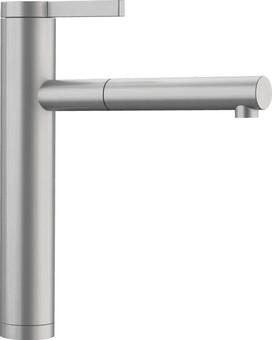 Кухонный смеситель Blanco Linee-S (сталь с матовой полировкой)