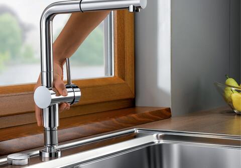 Кухонный смеситель Blanco Linus-S-F (хром)