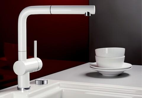 Кухонный смеситель Blanco Linus-S 516710 (глянцевый белый)