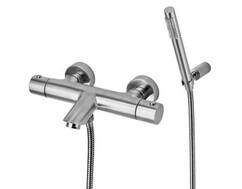 Смеситель для ванны с душем (нерж. сталь) Paffoni Light LIQ023ST