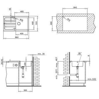 Кухонная мойка Teka Lux 1C 1E (белый)