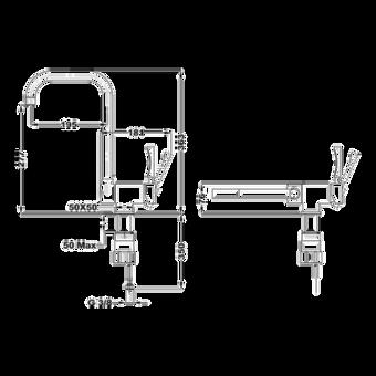 Кухонный смеситель Teka MTP 984 CHROME 116030000