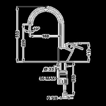Кухонный смеситель Teka MTP 995 CHROME 116030001