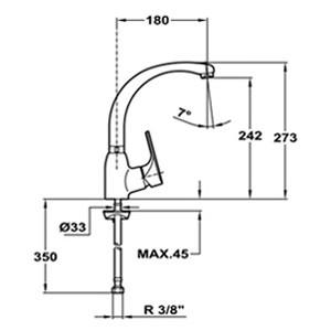 Кухонный смеситель Teka Mtp 915 (хром) 469150210