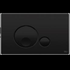 Механическая кнопка смыва OLI Globe, 23x15 черная матовая