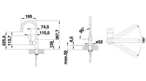 Кухонный смеситель Blanco Candor-S (нержавеющая сталь)
