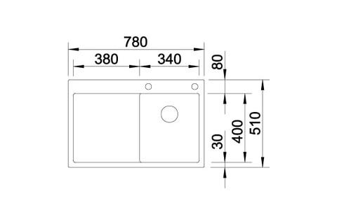 Кухонная мойка Blanco Claron 4 S-IF/А (правая, зеркальная полировка, с клапаном-автоматом)