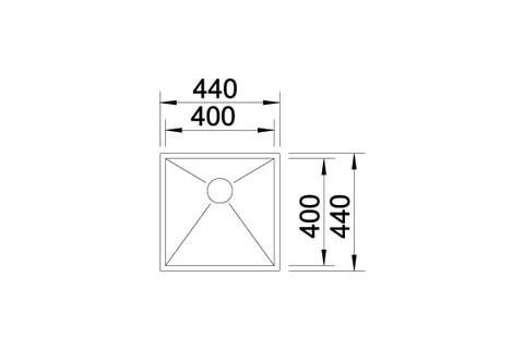 Кухонная мойка Blanco Zerox 400-U (Durinox® с отводной арматурой InFino®)