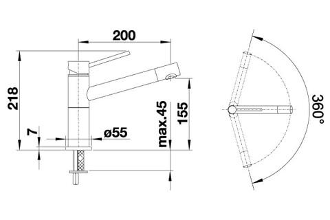Кухонный смеситель Blanco Alta Compact (серый беж)