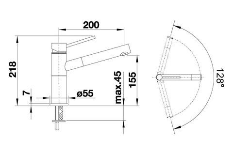 Кухонный смеситель Blanco Alta-S Compact (жемчужный)