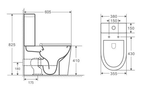 OWLT190303 Унитаз-компакт напольный безободковый OWL Vind Cirkel-G с сиденьем DP микролифт