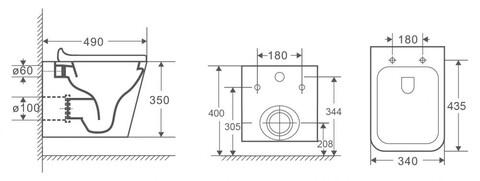 OWLT190403 Унитаз подвесной безободковый OWL Vatter Ruta-H mini с сиденьем DP микролифт