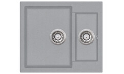 Мойка AquaSanita Tesa SQT 150 221 AW light grey (58х50) (светло серый)